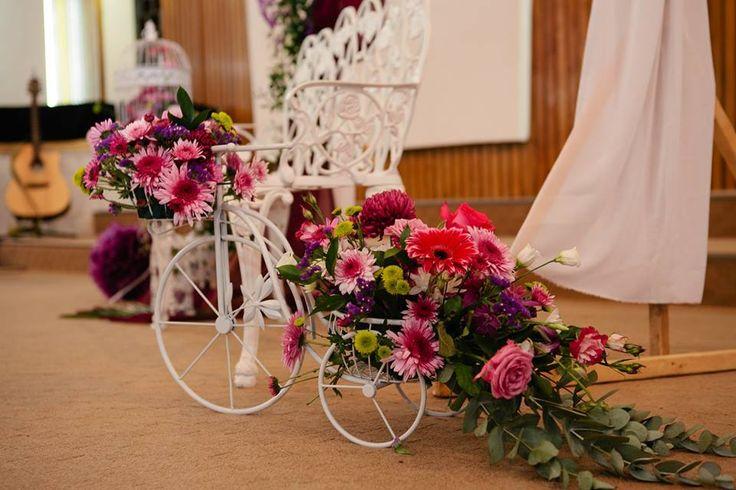 Bicicleta decorara cu flori