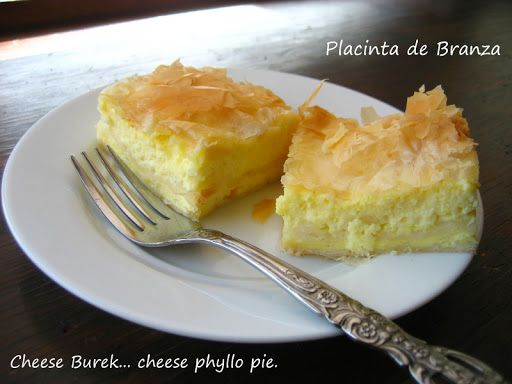 Please someone make this for me!! Cheese Burek (or Placinta de Branza)...Cheese Filled Phyllo Pie - Home Cooking In Montana