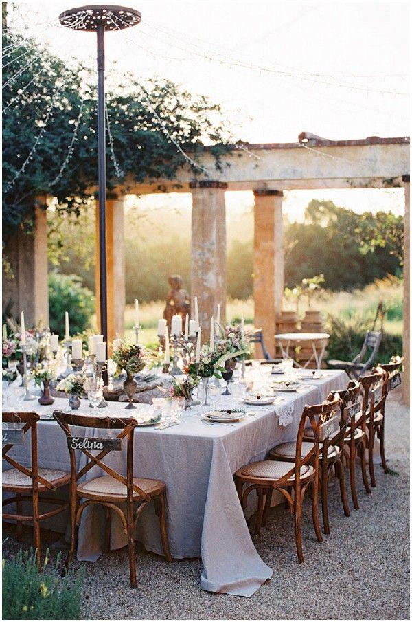 """Love the 'Maypole"""". Outdoor rustic wedding reception via www.frenchweddingstyle.com #wedding"""