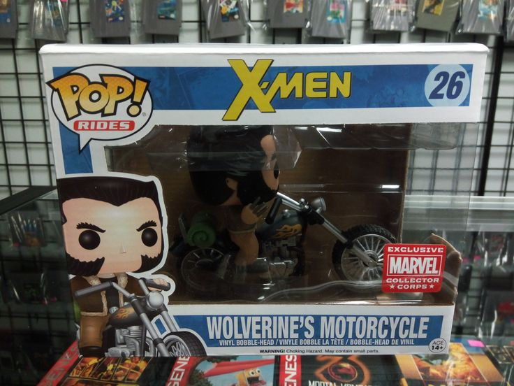 Wolverine's Motorcycle Funko Pop Rides#26 Marvel Collector Corps Exclusive