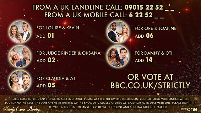 BBC One - Strictly Come Dancing - Voting Info
