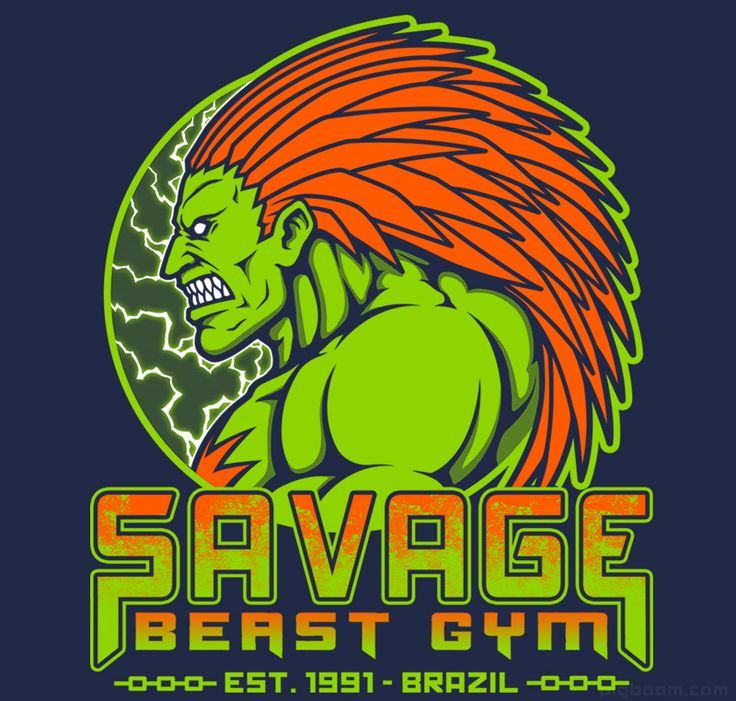 Savage Beast Gym  Blanka Street Fighter T-shirt