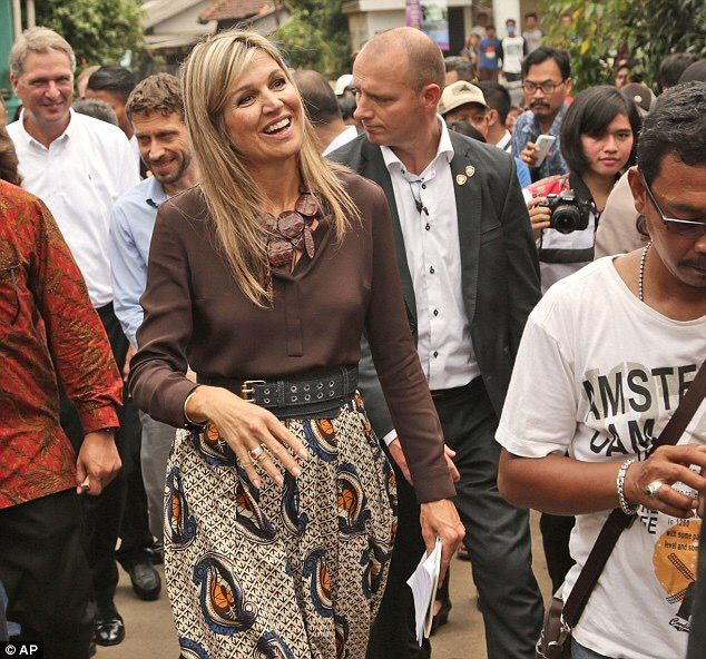 Among the crowds...Enchanting Queen Maxima of the Netherlands