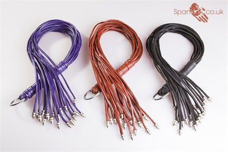 Metal Tipped Leather Floggers