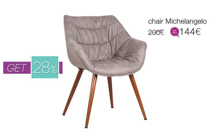 Urban #vintage look & άνεση, σε απόλυτη ισορροπία, στη νέα #καρέκλα Michelangelo από τη Milanode.  https://www.milanode.gr/product/gr/2742/karekla_michelangelo.html