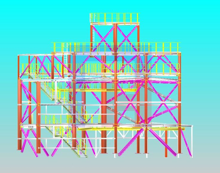 Workshop documentation - designed in X-Steel (Tekla Structures)