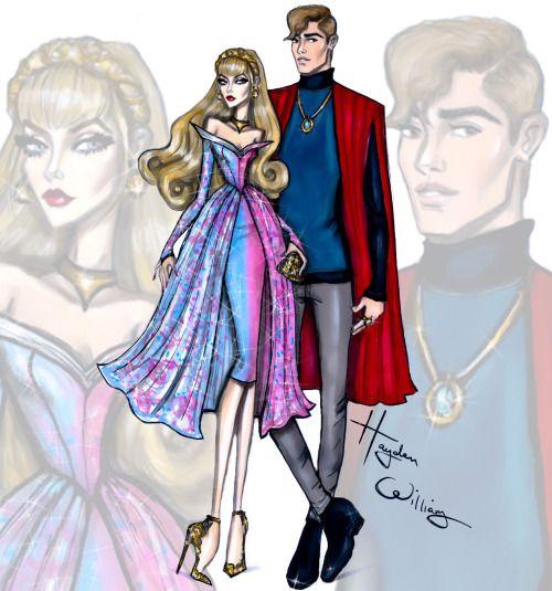 'Disney Darling Couples' by Hayden Williams: Aurora & Prince Phillip #Disney