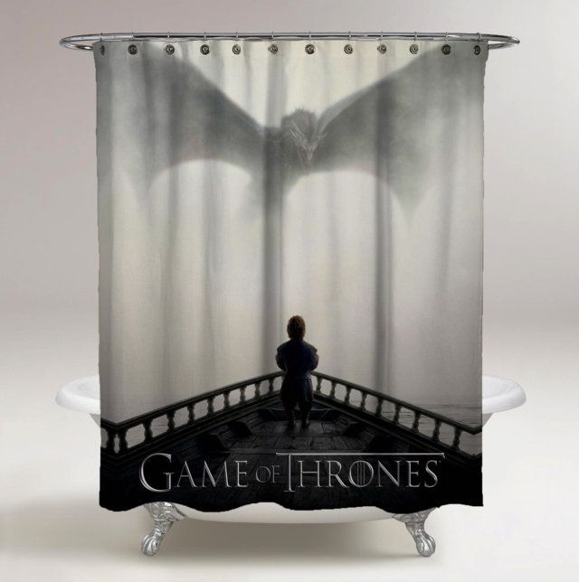 New Game Of Throne Seasson 5 Print Shower Curtain All Size In 2020 Custom Shower Curtains Personalized Shower Curtain Printed Shower Curtain