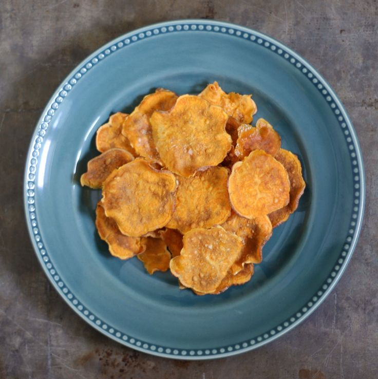 how to make sweet potato crisps microwave