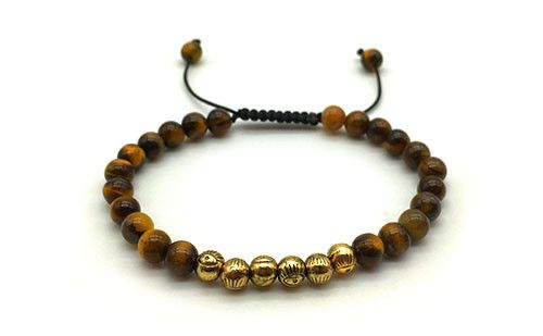 The Everett is crafted from lava stone beads and bronze zinc alloy. Adding casual character to an outfit, this bracelet stretches to fit any wrist size easily.