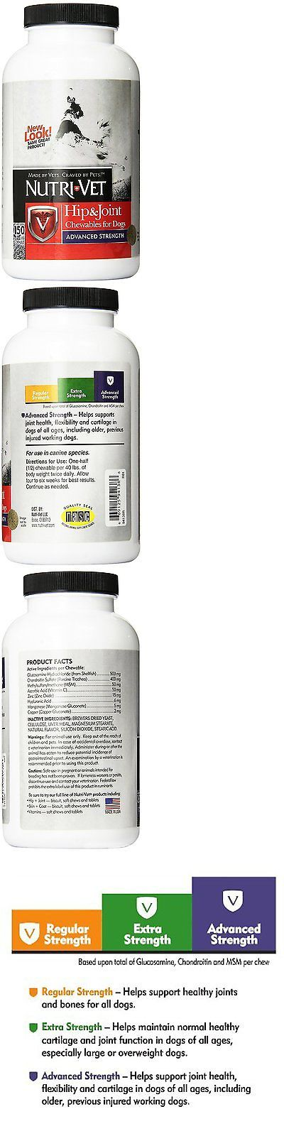 Vitamins and Supplements 134754: Nutri-Vet Hip And Joint Advanced Strength Chewables For Dogs, 150-Count -> BUY IT NOW ONLY: $33.24 on eBay!