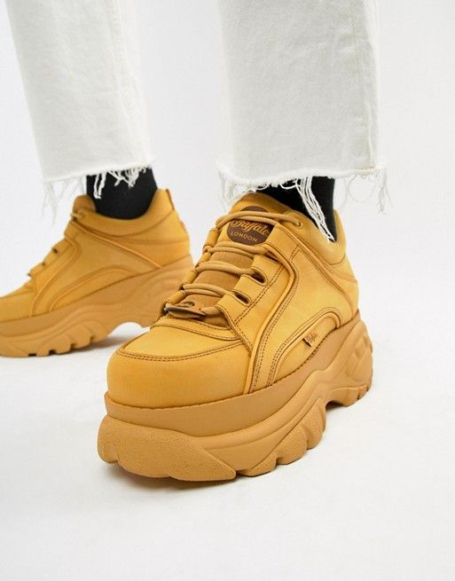 10961bcc043c74 Buffalo Classic chunky sole sneakers in wheat in 2019