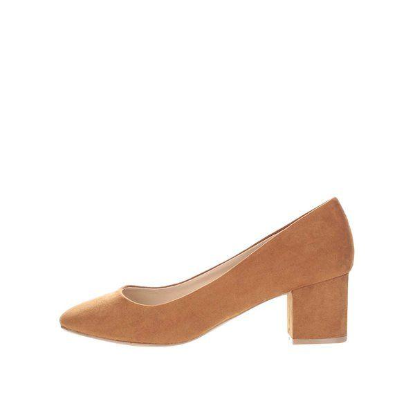 Pantofi maro Dorothy Perkins cu toc gros