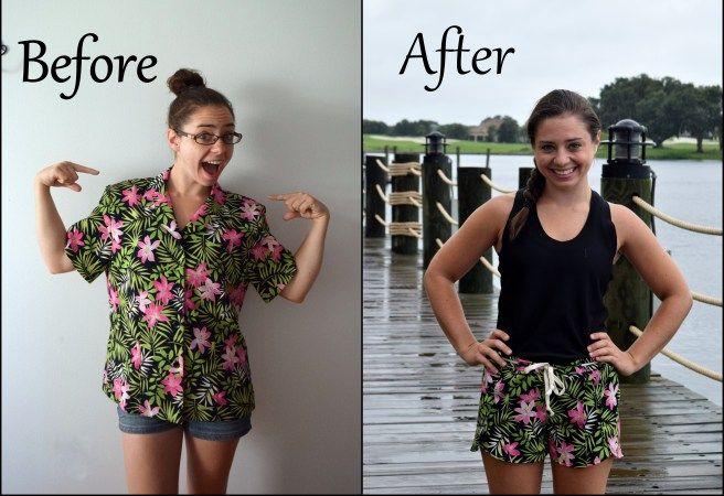 "Shirt refashioned into Shorts. ""Refashioned Nantucket Shorts"" by Trish Stitched"