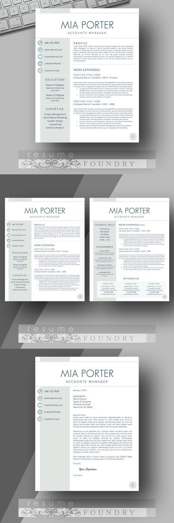 Modern Resume Template 222 best Modern Resume