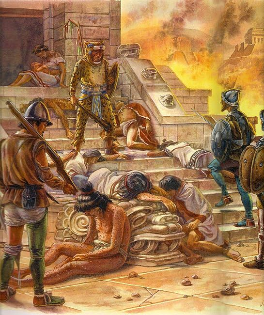 Conquest of Tenochtitlan by the troops of Cortes
