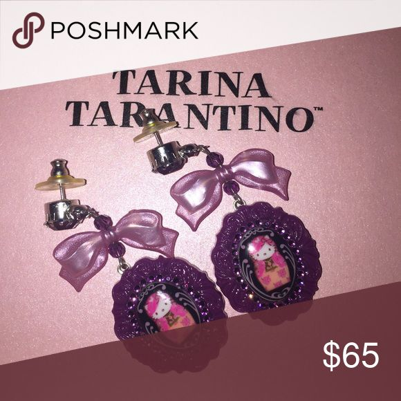Russian hello kitty earrings Third piece of the Russian collection Tarina Tarantino Jewelry Earrings