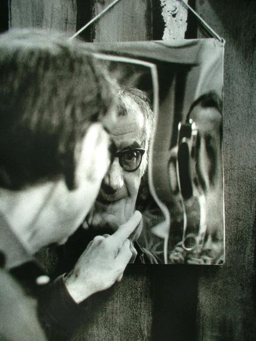 Vaclav Chochola photographing Man Ray, Paris 1968
