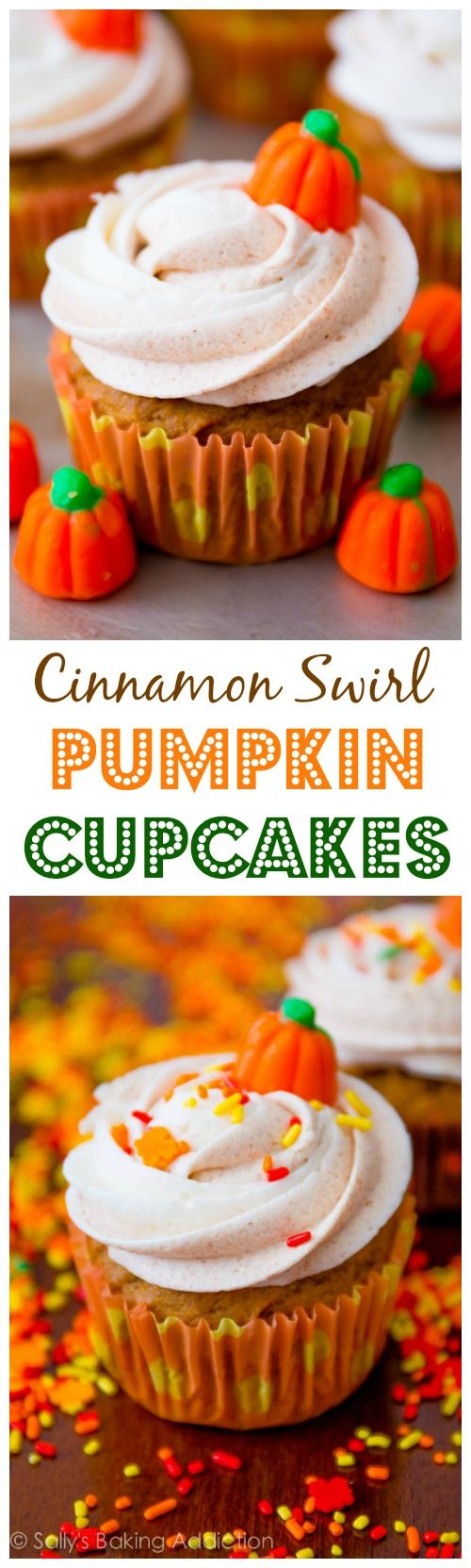 Cinnamon Swirl Pumpkin Cupcakes - Perfection. Absolute perfection!