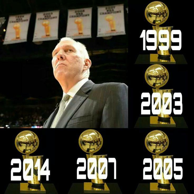 SPURS COACH GREGG POPOVICH: 5-TIME NBA CHAMPION