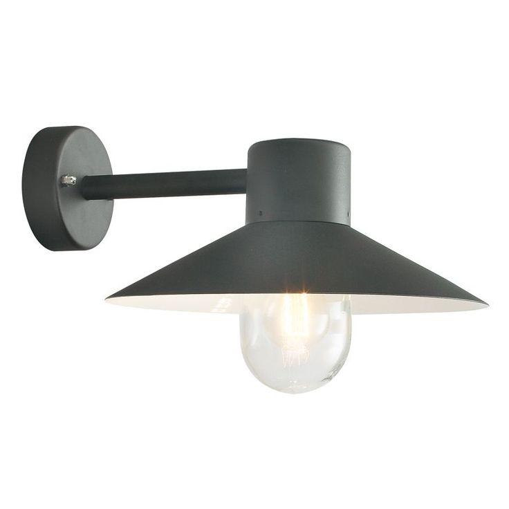 Lund Svart Ip55 Vägglampa