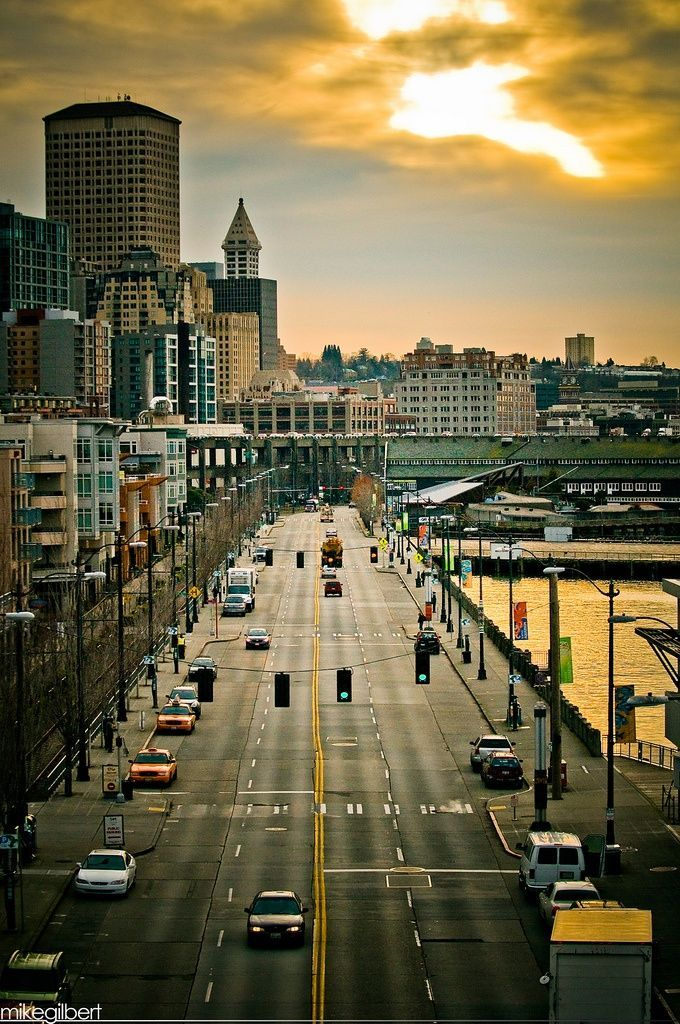 Alaskan Way, Seattle (Would love to live here)