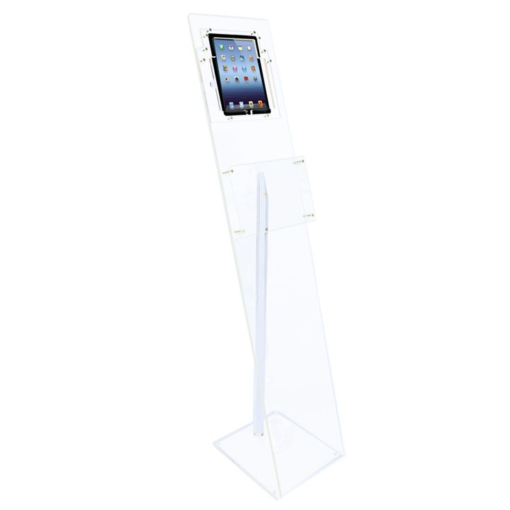acheter présentoir d'accueil transparent pour tablette ipad et brochures : Doublet