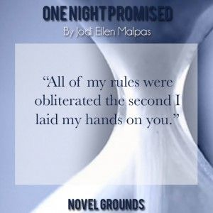A rave review for the newest from Jodi Ellen Malpas. One Night Promised is a fantastic read that you don't want to miss.