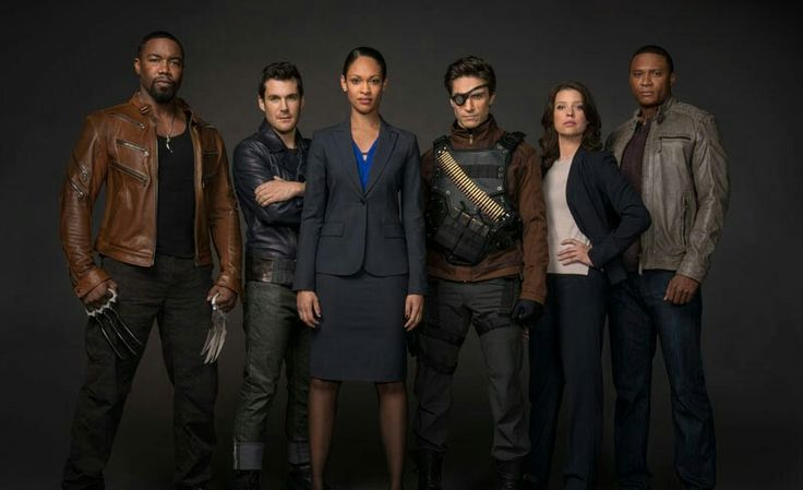 Suicide Squad on Arrow;L to R Bronze Tiger,Shrapnel, Amanda Waller, Deadshot,Lyla Michaels, John Diggle