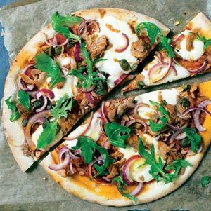 Recept - Pizza tonijn en kappertjes - Allerhande