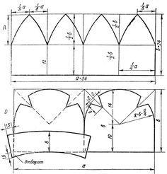 Fig.  65. sombrero de las mujeres es: A - de las cuñas;  B - con dardos y solapa  http://fashionlib.ru/books/item/f00/s00/z0000008/st063.shtml