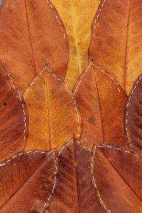 stitched leaves