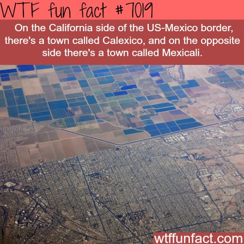 Calexico and Mexicali - WTF fun facts