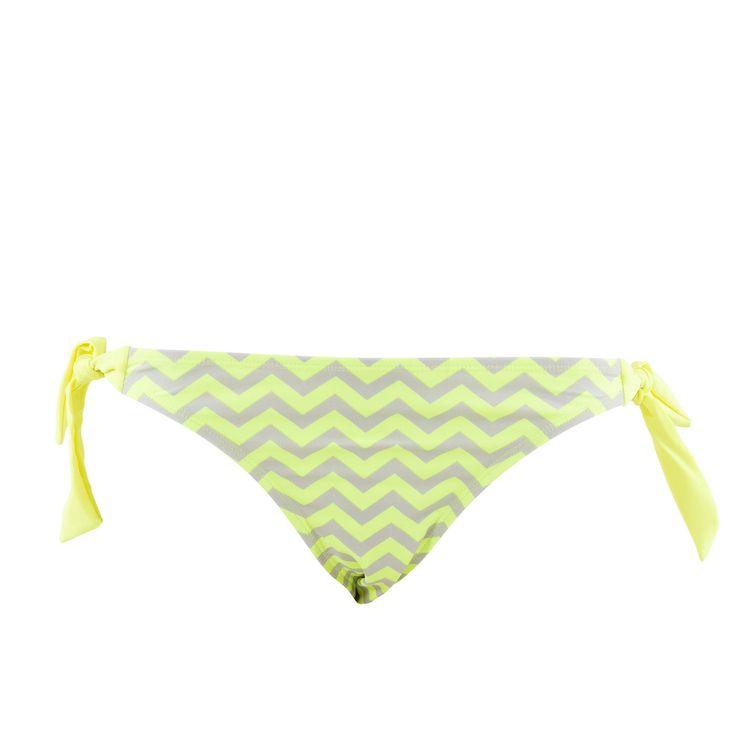 Culotte de bain fluo jaune - MIM #culotte #zigzag