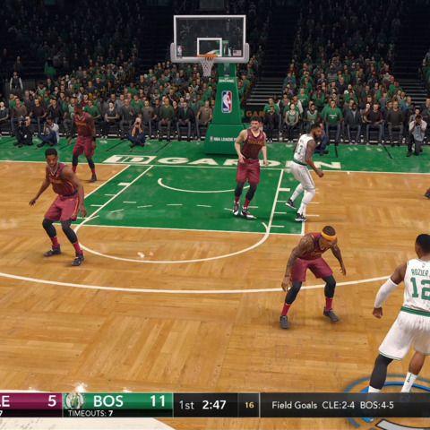 Boston Celtics Vs. Cleveland Cavaliers  NBA Live 18 Gameplay
