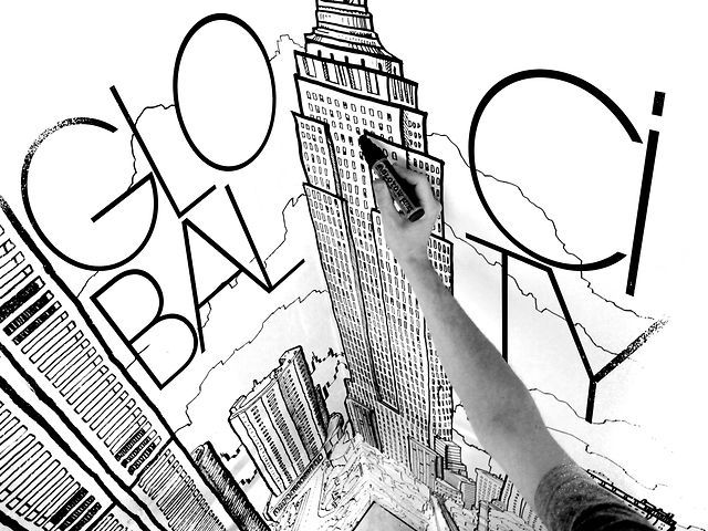 Global City making of by Thomas Dartigues. Global City Mural by Deck Two. NYC 2012.