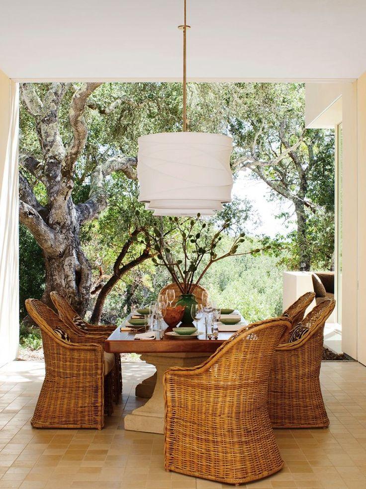 sala de almoço com mobiliário natural