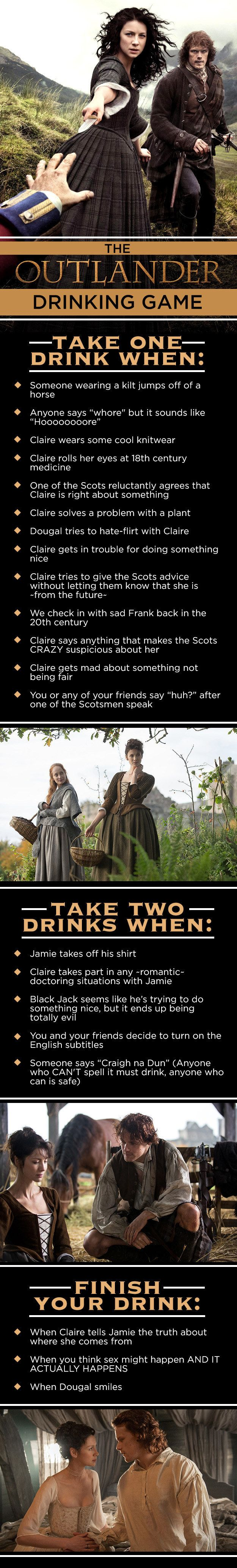 """The """"Outlander"""" Drinking Game That You Want And Need#.oigXZA5G9#.oigXZA5G9"""