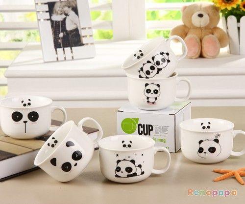I must own these... Now! Kawaii Blushing Panda Mugs / Cups