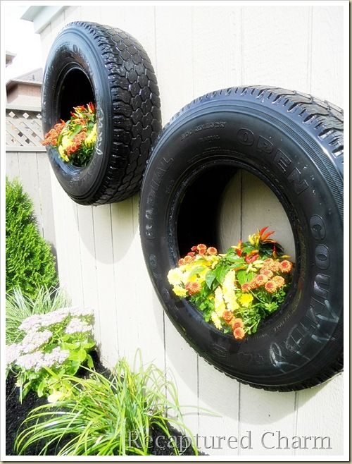 Redneck planters things jennifer would like for Using tyres as planters