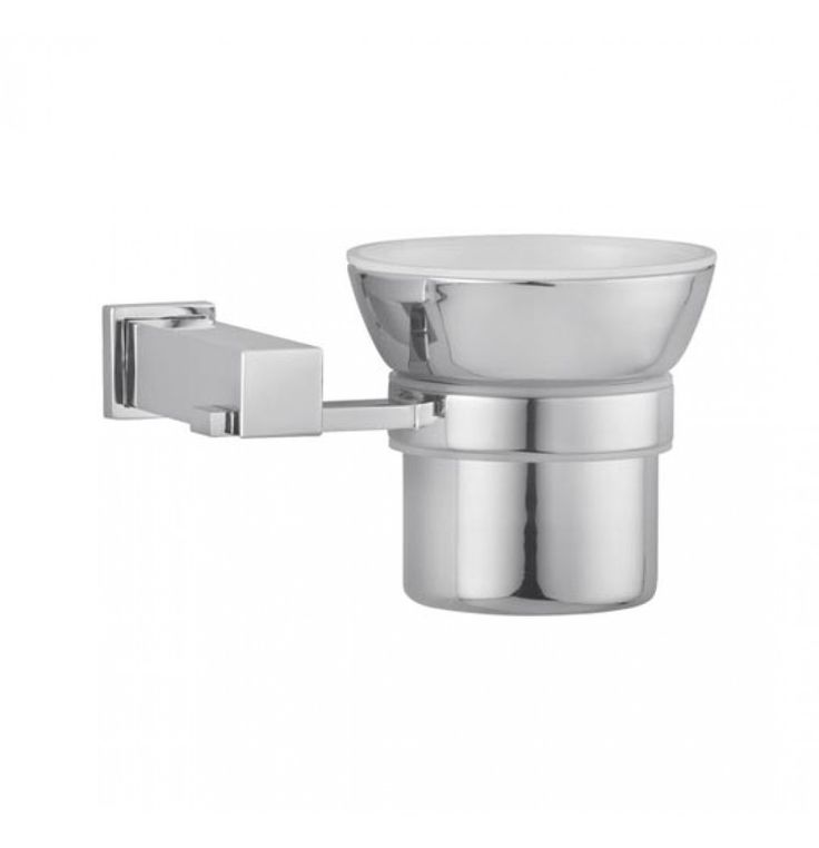 Hindware Rubbic Tumbler Holder (Brass) In Chrome (F870001)