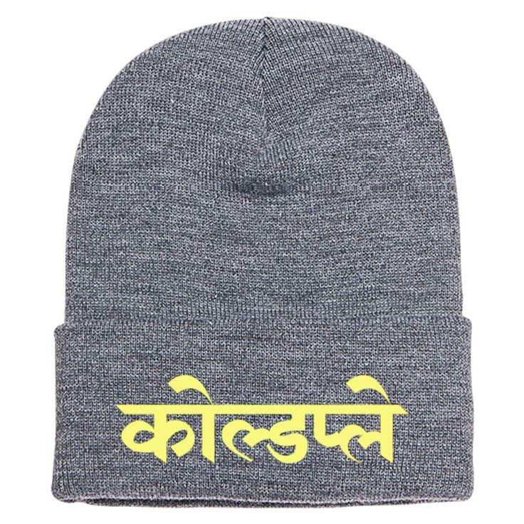 Coldplay Hindi Logo Embroidered Knit Cap