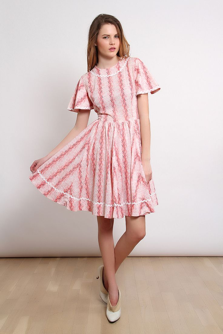 80′ler Emprime Basma Çiçekli Elbise   AU Vintage
