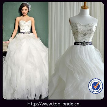 real photo lxuury wedding dress