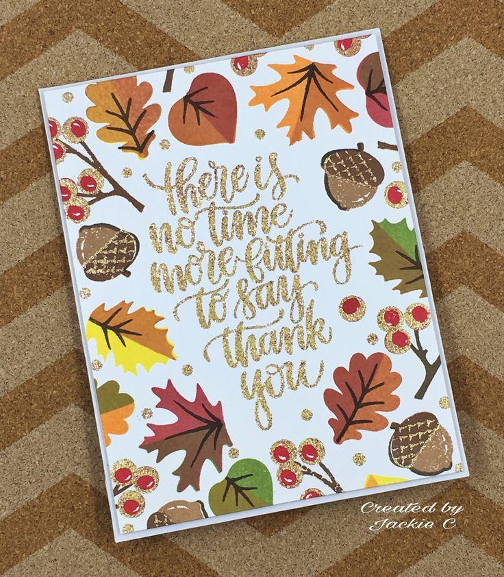 Thank you card featuring Sunny Studio Autumn