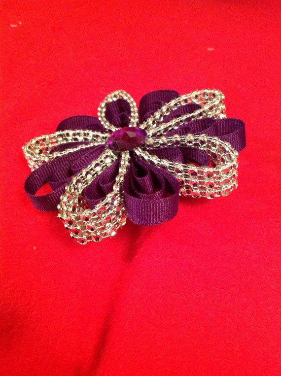 Diamond Mesh Bling Petal Hair Bow by JoatmonCreations on Etsy, $7.50