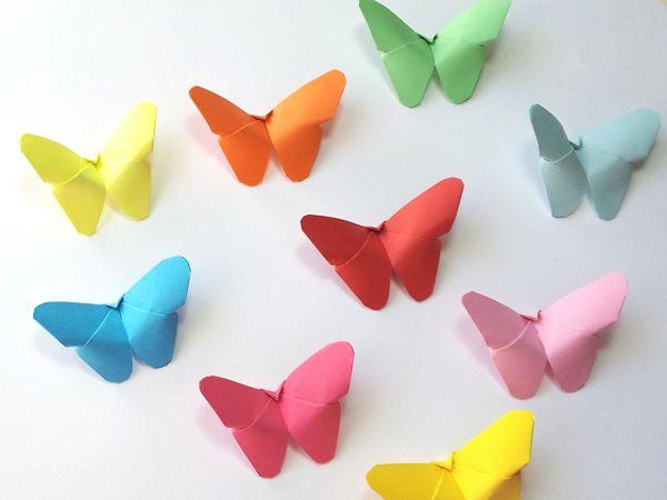 Mariposas de papel para decorar (super fáciles) | Aprender manualidades es facilisimo.com