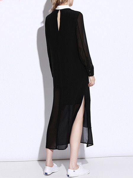 Paneled Shirt Dress from #stylewe