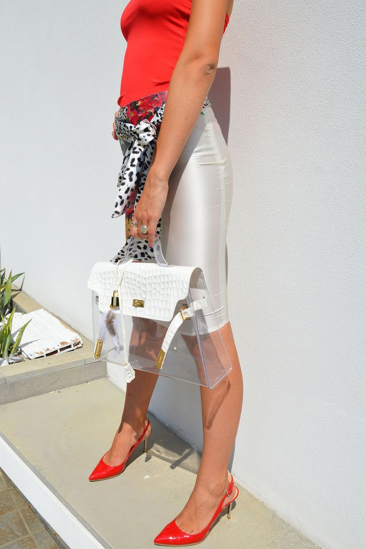 Lock Bicolor – Cocco Bianco/Trasparente  #bag #fashion #pvc #glamour #outfit #trend #beauty