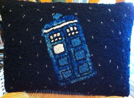 Dr. Who TARDIS Pillow on Etsy, $50.00
